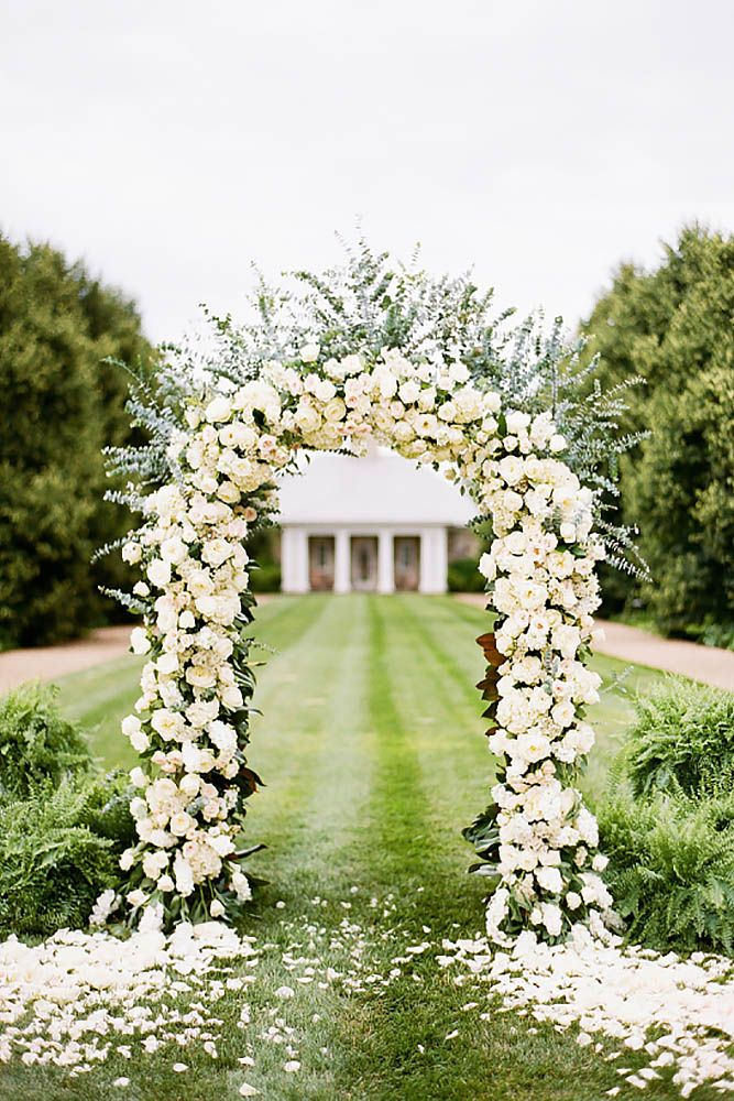 30 Floral Wedding Arch Decoration Ideas Wedding Ceremony Decor