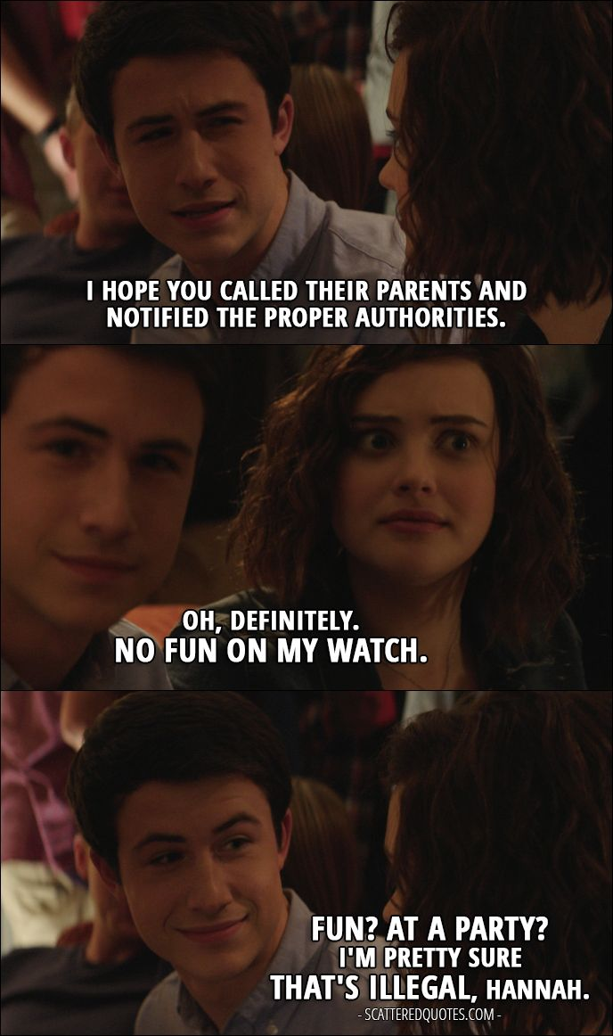 Quote from 13 reasons why 1x09 │ clay jensen i hope you called their parents