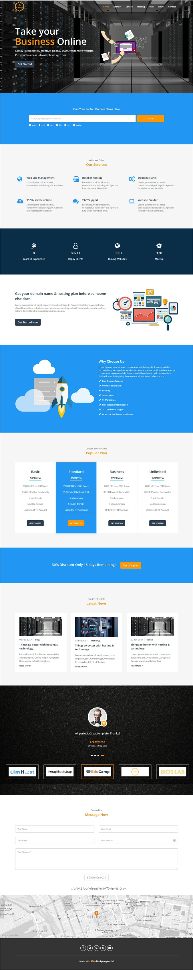 Classy is a wonderful multipurpose HTML5 bootstrap template for ...
