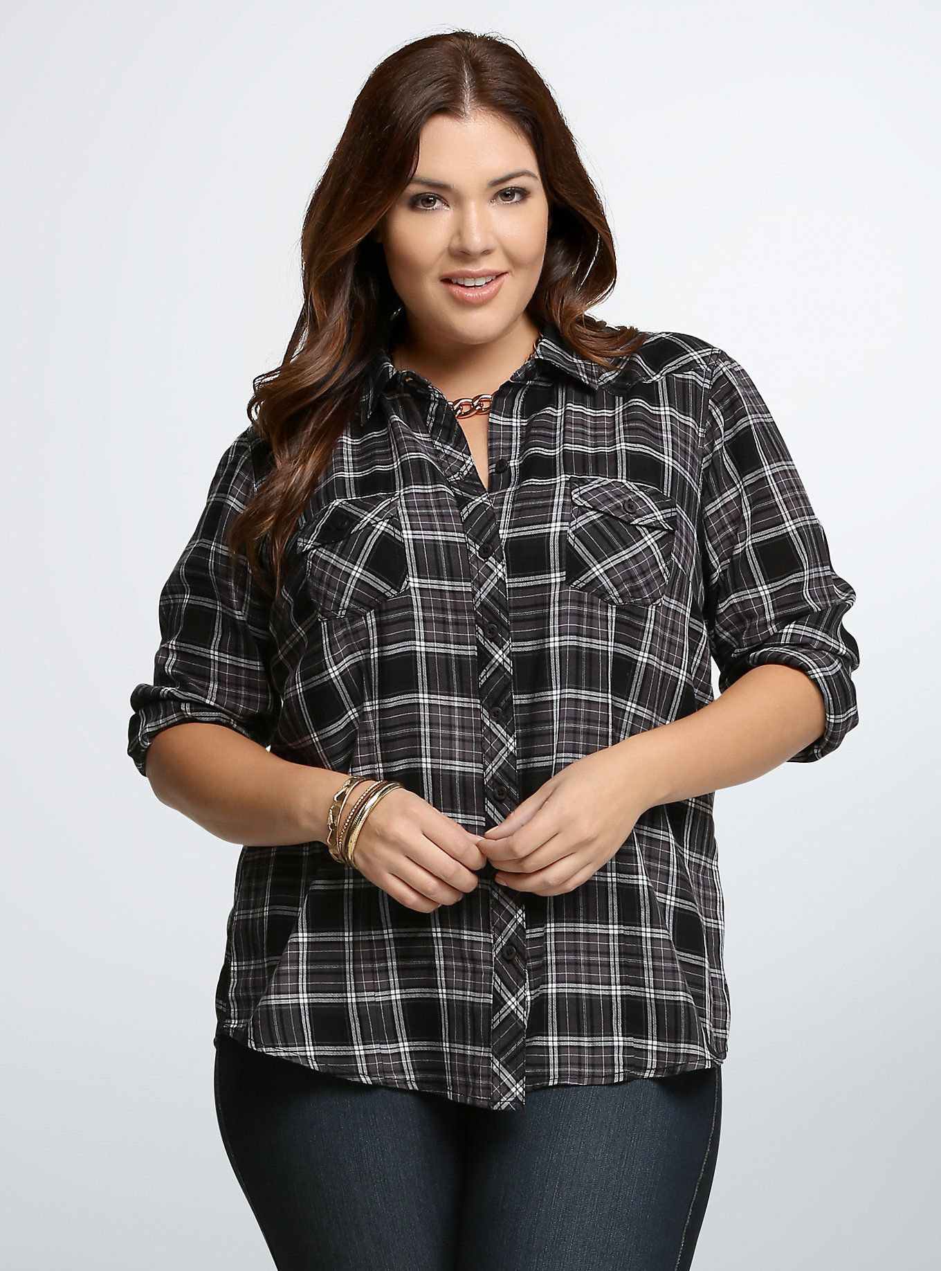 Flannel shirt plus size  Plaid Camp Shirt  Camp shirts Torrid and Plaid