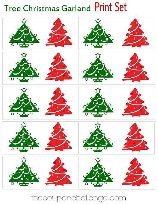 Download Free Printable Christmas Tree Garland A Fun And Easy Craft For The Holida Christmas Tree Garland Homemade Christmas Tree Christmas Tree Coloring Page