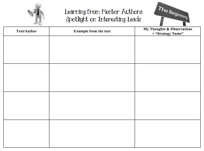 Using Mentor Texts To Empower Student Authors Mentor Texts