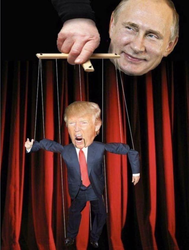 Puppet master Putin and trump the Dummy. - Spotprent, Karikatuur ...