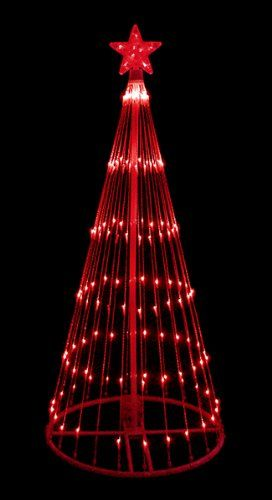 red led light show cone christmas tree lighted yard art decoration