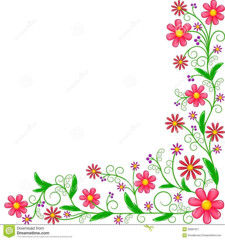 Flower Corner Border Clip Art Clipart Panda Free Clipart Images Free Clip Art Clip Art Borders Printable Flower Pattern