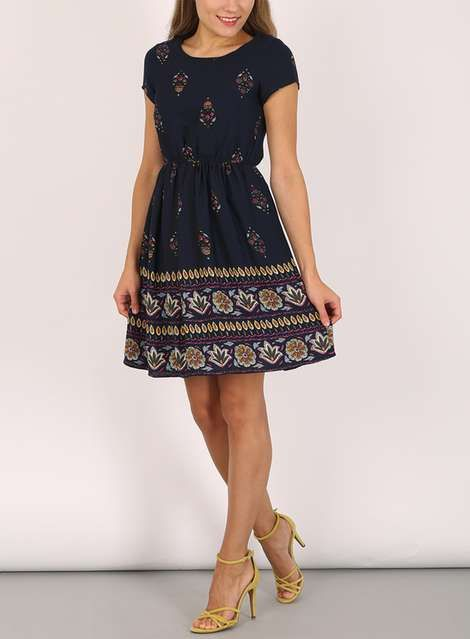 Tenki Blue Floral Skater Dress - View All Clothing   Shoes - Clothing -  Dorothy Perkins Europe bf1904c58