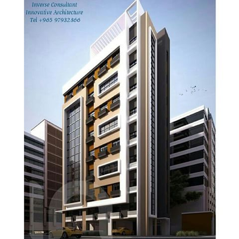 Pin de haiman abdeladel en residential building for Fachadas para departamentos pequenos