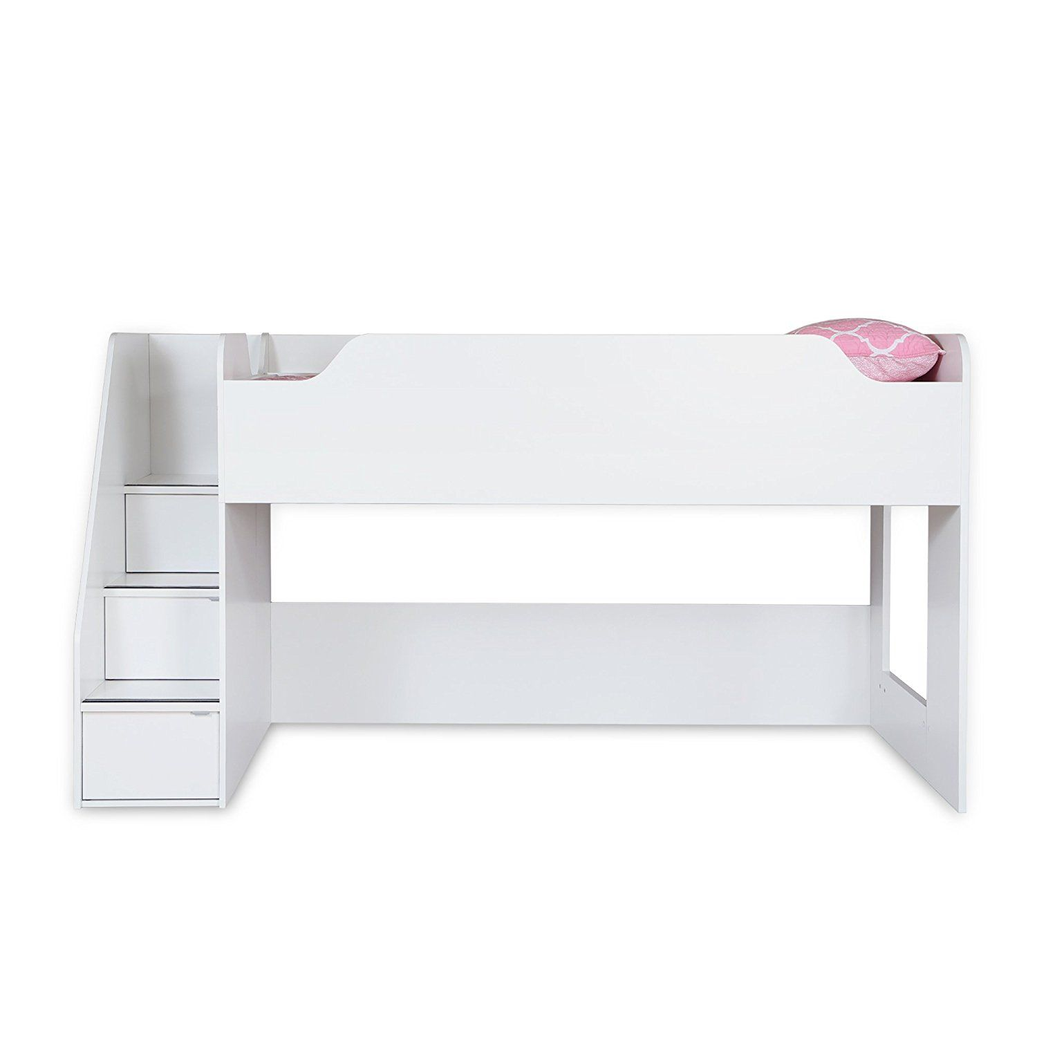 Tuffing loft bed ideas  South Shore Mobby Inch Loft Bed with Stairs Twin Pure White