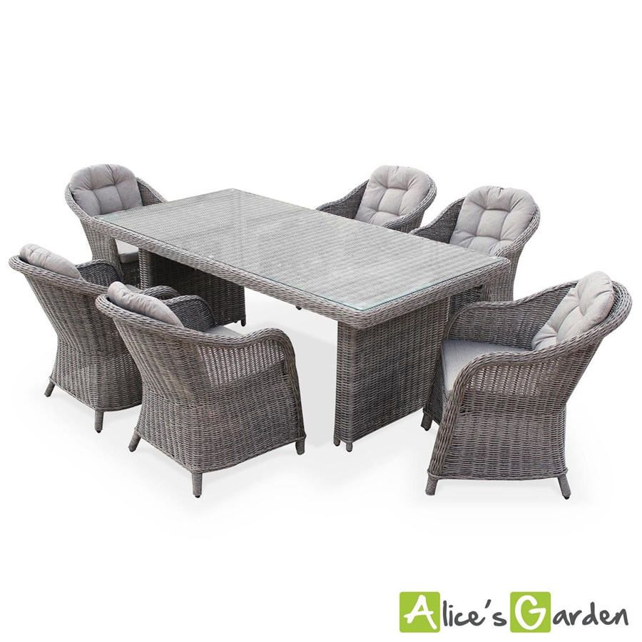 salon de jardin la redoute promo salon de jardin alice s garden 6 places avec sa table en. Black Bedroom Furniture Sets. Home Design Ideas