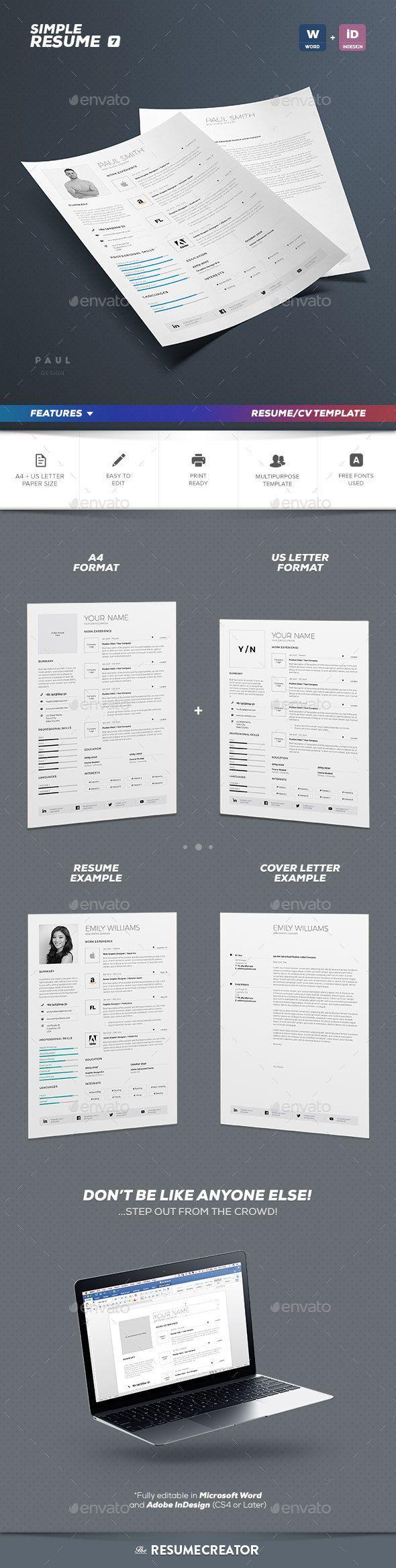 Simple ResumeCv Volume   Simple Resume Resume Cv And Cv Template