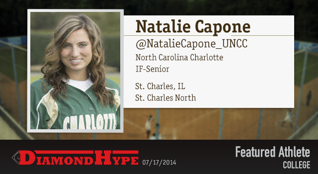 Congrats to today's #DHFeaturedAthlete Natalie Capone of #UNCCharlotte Softball! Check out all of your softball news on DiamondHype.com! http://bit.ly/1pf9CBR