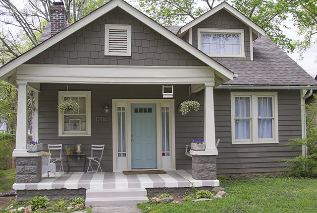Black And White And Loved All Over Gray House Exterior House Paint Exterior Exterior Paint Colors For House