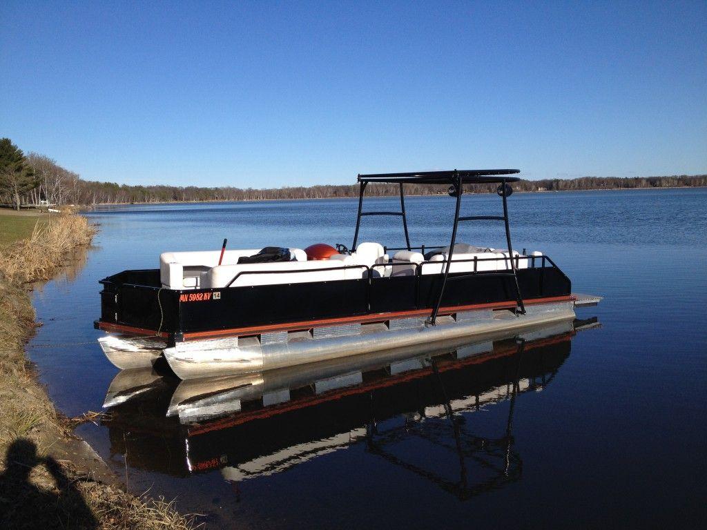 Pontoon Boat Wrap black and copper | Boat Wraps | Pinterest | Boat ...