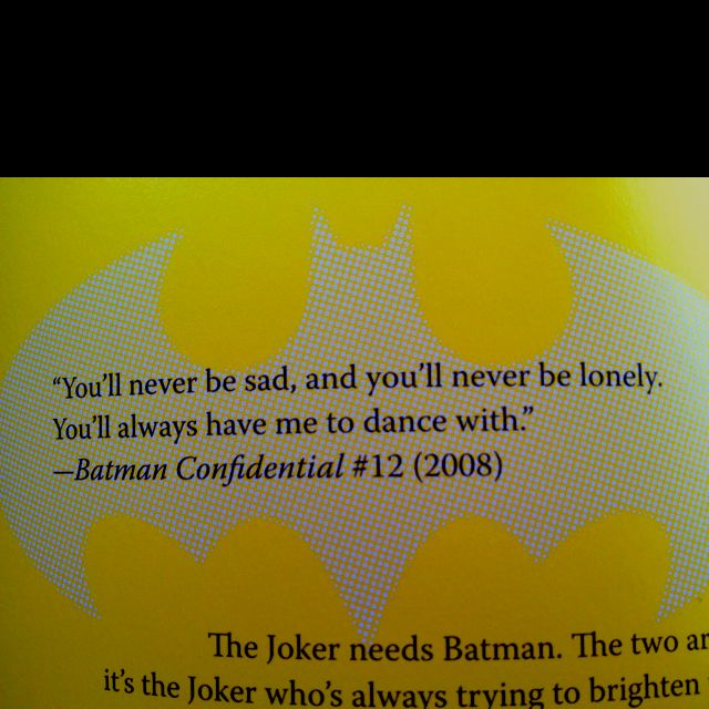 Hubby loves Batman, and I love this quote:) | My Style