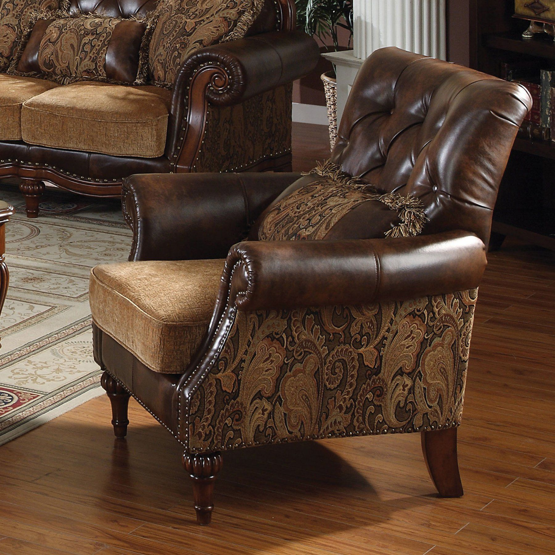 Best Acme Furniture Dreena Chair With 1 Pillow 5497 Acme 640 x 480