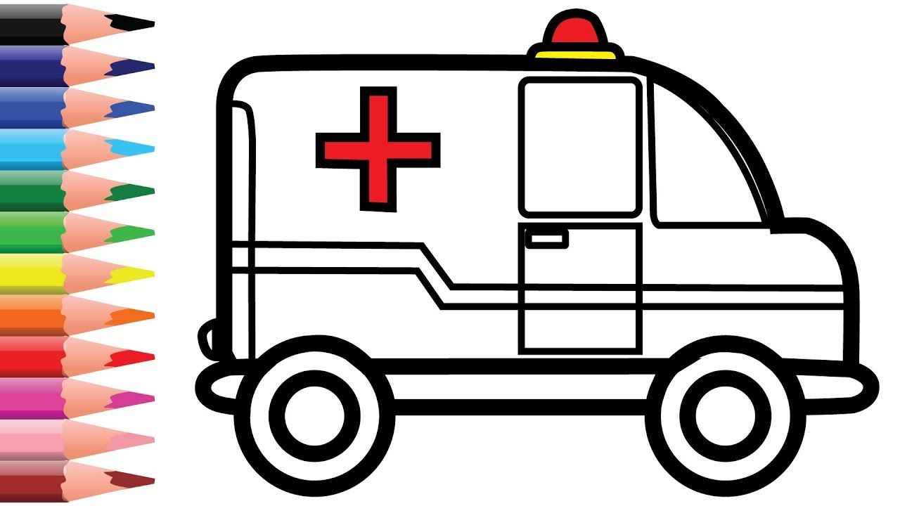 Toy Ambulance Coloring And Drawing For Kids Chuchu Colors Tv Drawing For Kids Drawings Easy Drawings