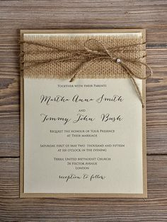 Diy Wedding Invitation Kits Rustic
