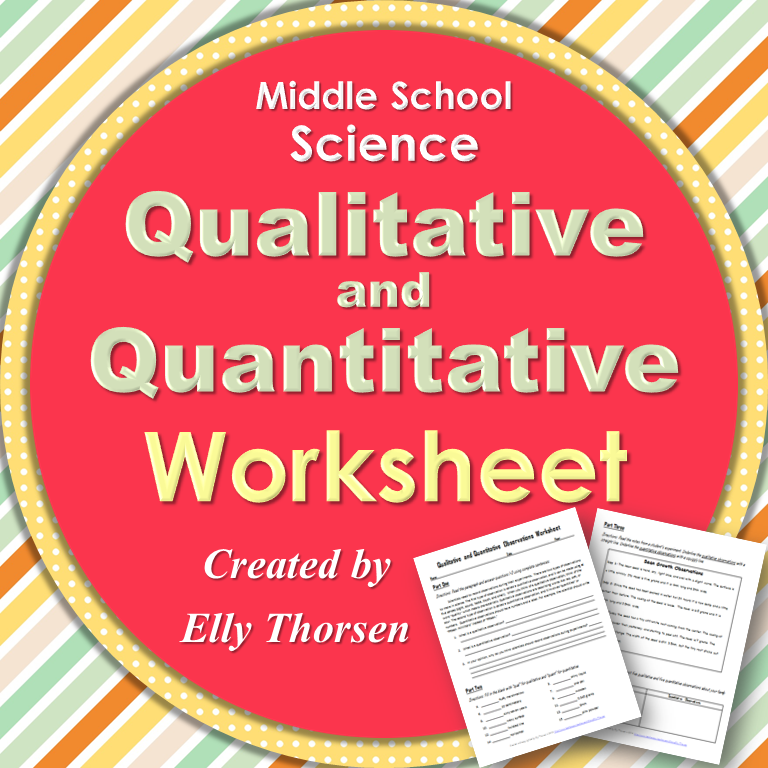 Science Physics Difference: Qualitative And Quantitative Observations Worksheet