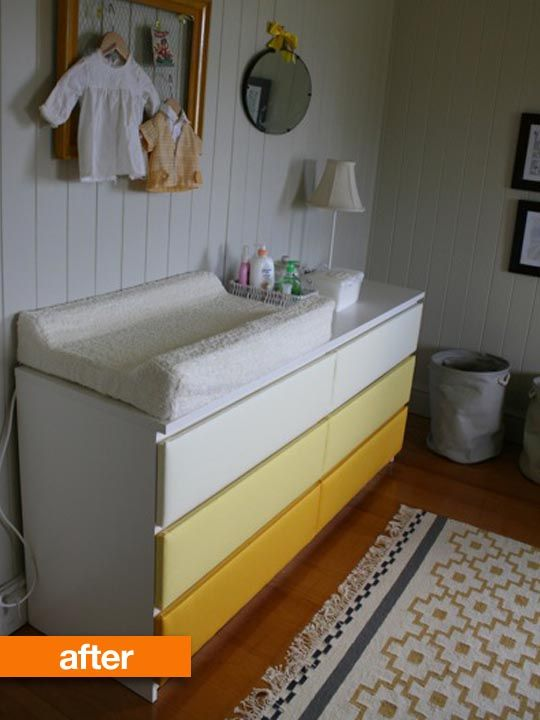 Before after ikea malm gets an upholstered ombre makeover beb pinterest - Mueble cd ikea ...