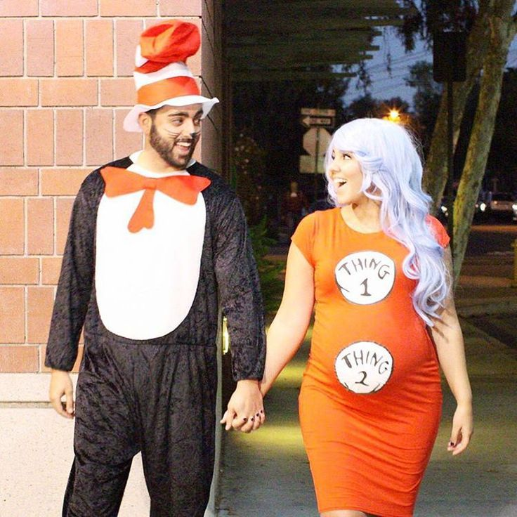Pregnant Halloween Costume - Thing 1 Thing 2 costume - dr seuss costume - @amanda & Pregnant Halloween Costume - Thing 1 Thing 2 costume - dr seuss ...