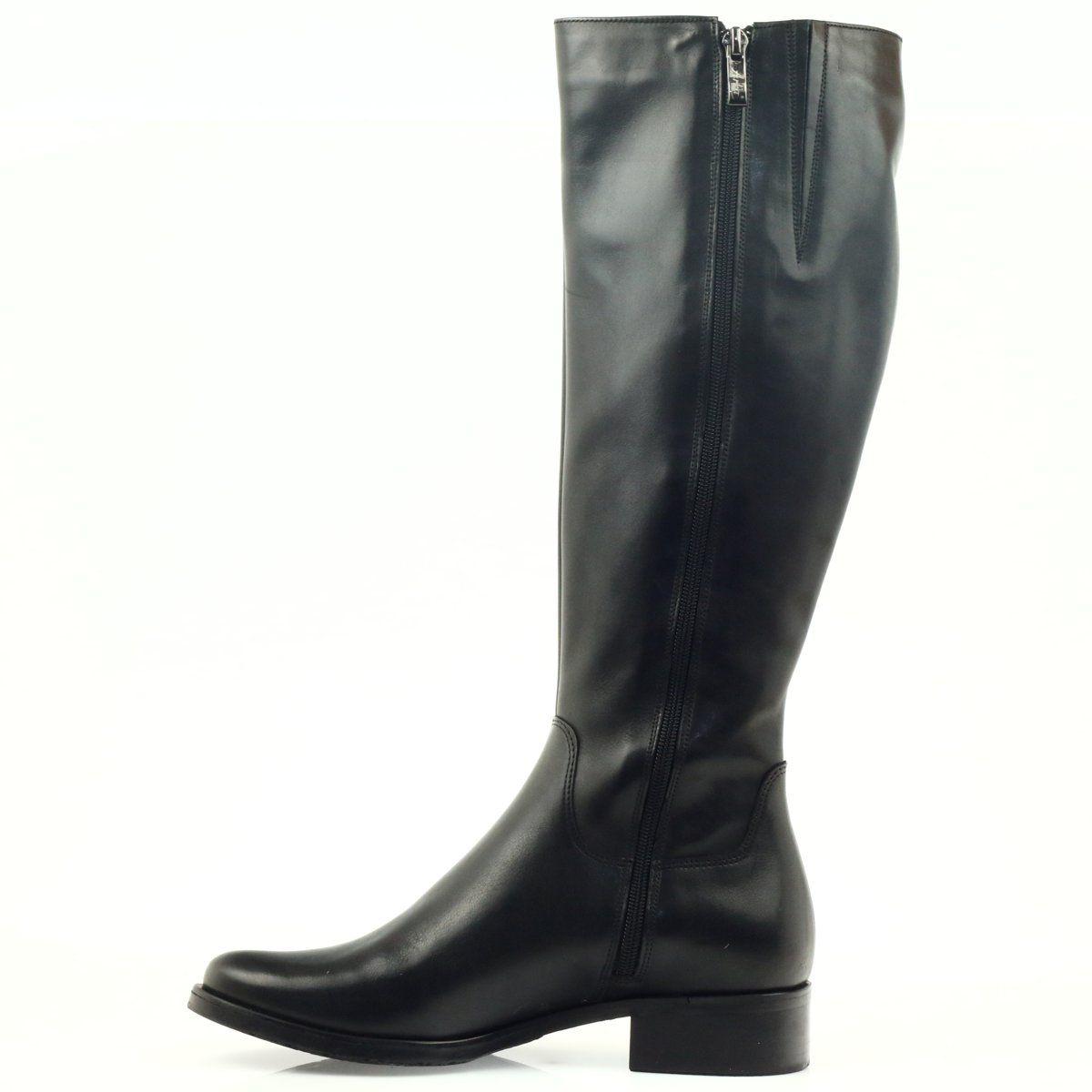 Kozaki Oficerki Czarne Arka 7217 Boots Black Boots Womens Boots