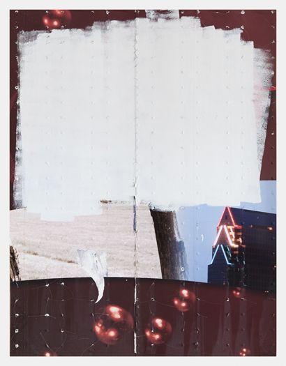 Gedi Sibony Tumefication of Latter, 2015 Aluminum semi-trailer 92 1/4 x 71 1/8 inches (234.3 x 180.7 cm)