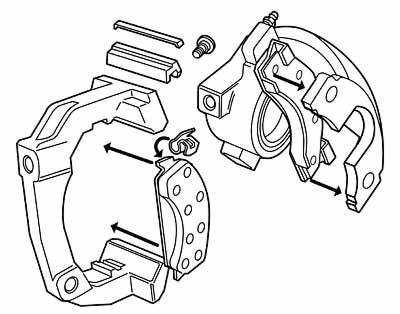 Mustang disc brake caliper exploded view for instruction