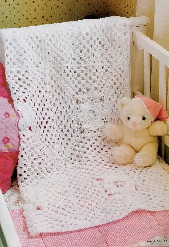 Todo para Crear ... : mantillas para bebe en crochet / Crochet baby ...