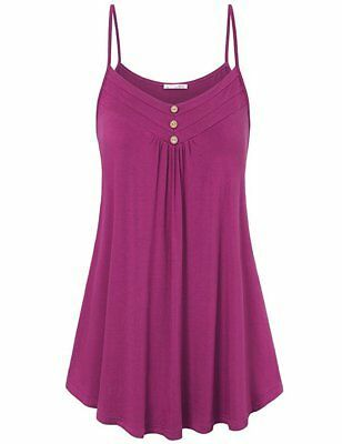 Women Loose Tank Top Vest Summer Beach Party Swing Sleeveless Blouse Tee Shirt