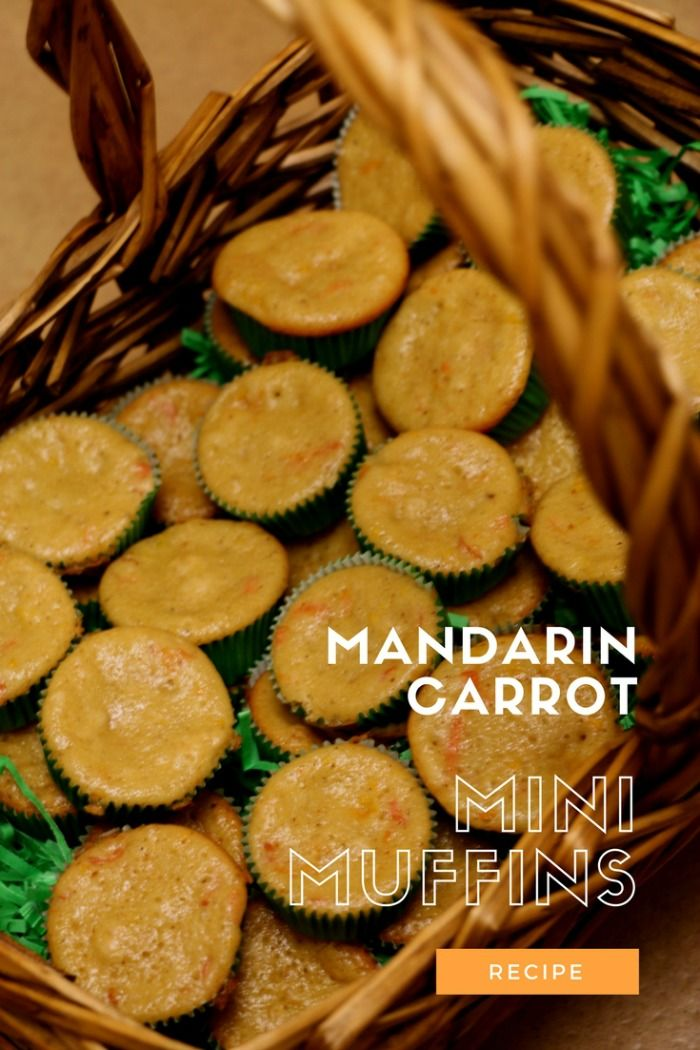 mandarin carrot mini muffins | healthy muffin recipe | kids healthy muffin recipe | easy muffin recipe | skinny muffin recipe | MomTrends.com