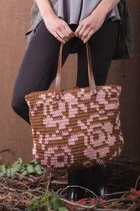 Winter Rose Crochet Bag