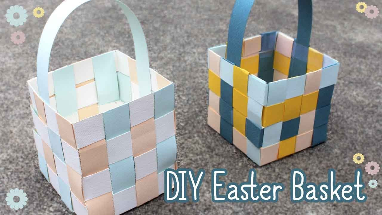 Video showing how to make an easter basket out of paper craft video showing how to make an easter basket out of paper negle Gallery