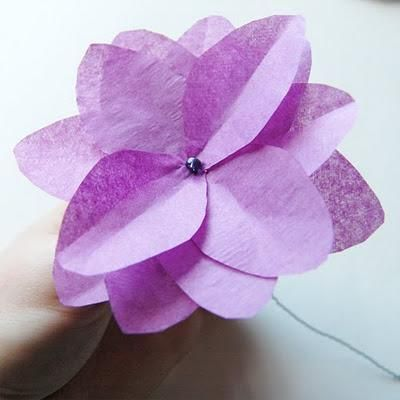 Tissue Paper Flowers Simple Paper Crafts Tissue Paper Flowers