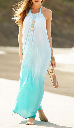 """""""Dreamy"""" Ombre Mint Maxi Dress"""