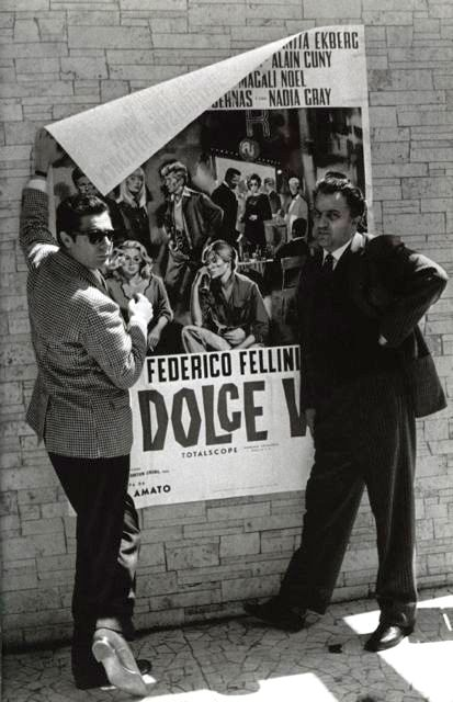 Federico Fellini and Marcello Mastroianni, Cannes, 1960....2in1+Dolce Vita in Cannes...Mamma Mia :))))) Fantastic !
