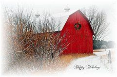 Country Christmas Featured Images - Happy Holidays  by Terri Gostola
