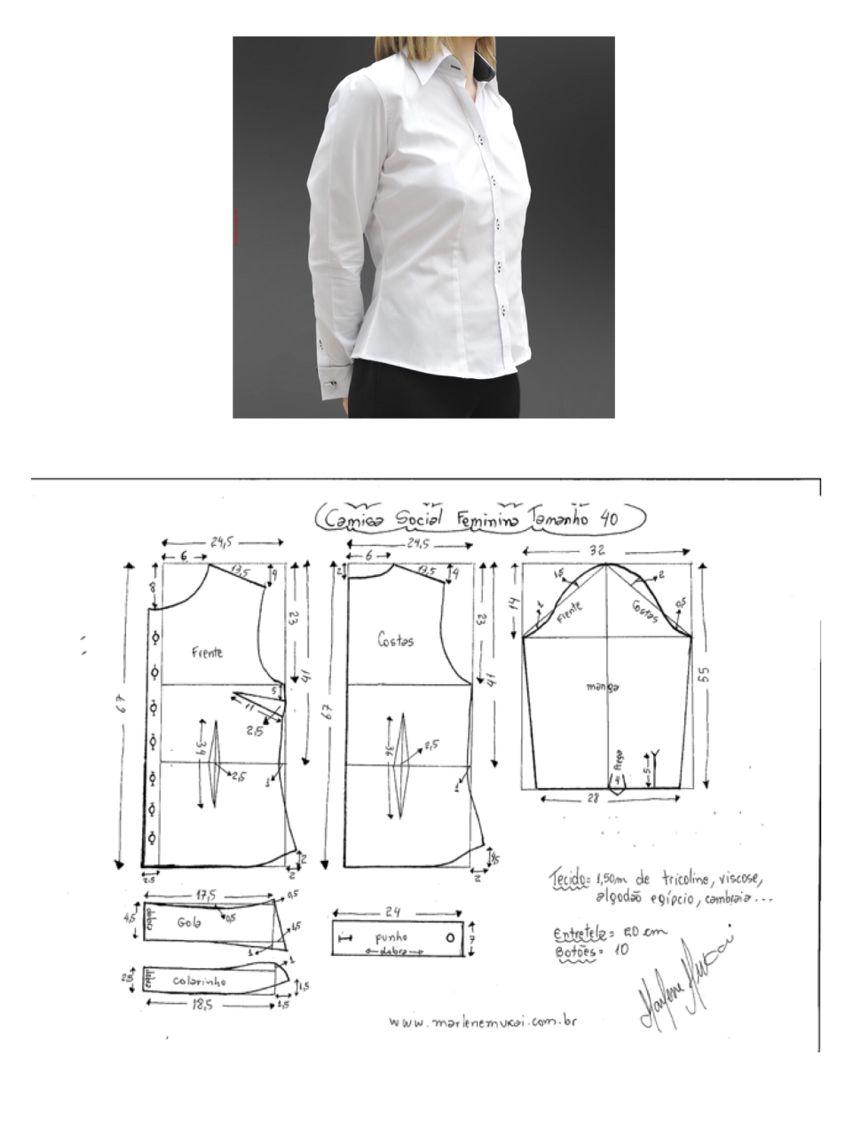 camisa feminina | ropa de mujer(moldes) | Pinterest | Costura ...