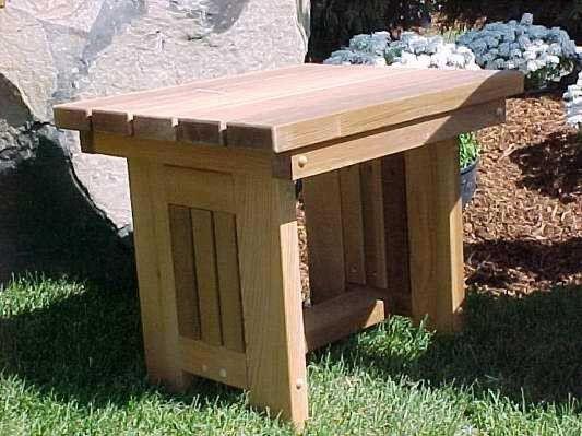 Solid Western Red Cedar Side Table