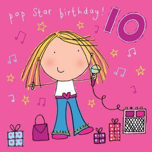 Age 10 Girls Birthday Card