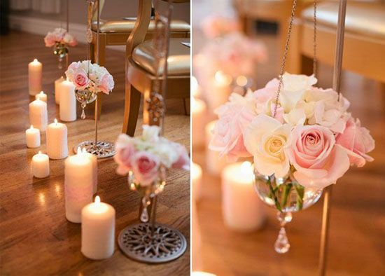 03 Hochzeitskerze Kerzen Altar Dekoration Hochzeit Blume Deko