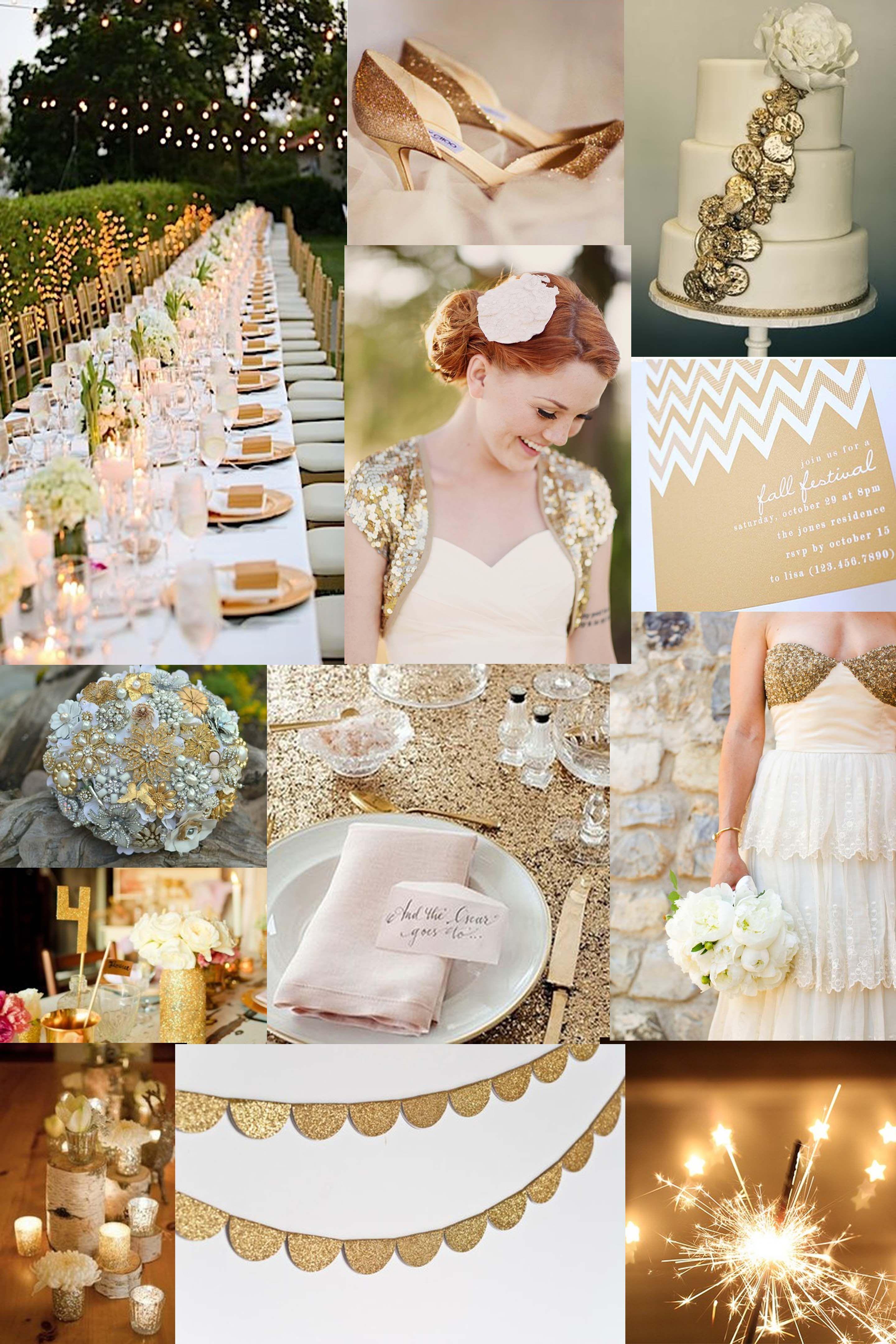 Goldene Hochzeit Inspiration Stylish Glanzend Und Romantisch Goldene Hochzeit Hochzeit Dekoration Hochzeit