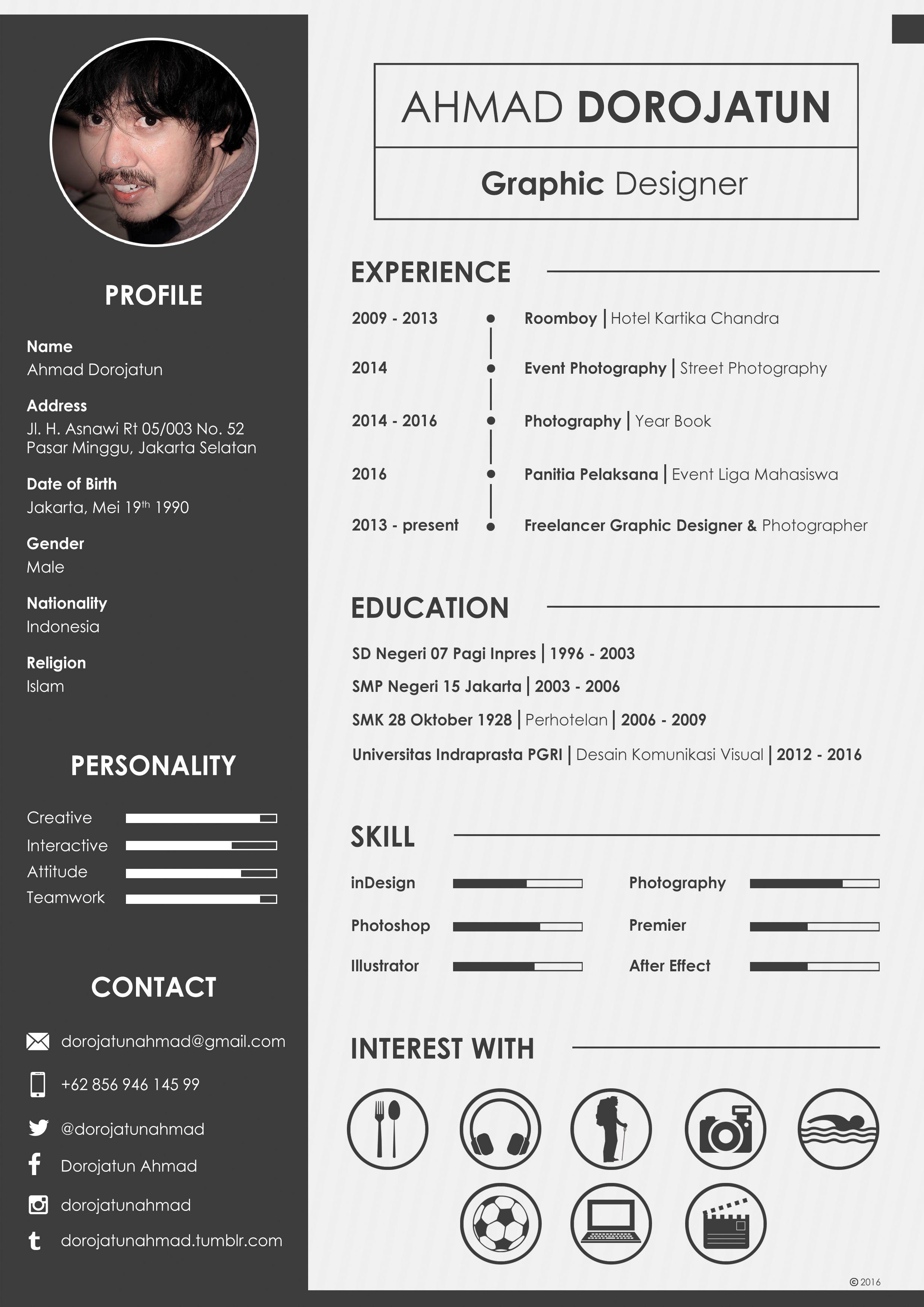 RESUME CV Curriculum Vitae | Curriculum Vitae | Pinterest ...