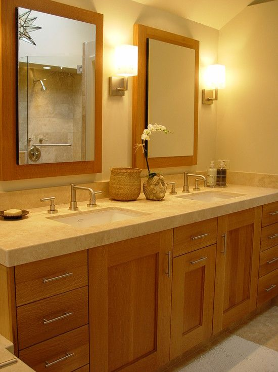 Light Brown Bathroom Cabinets Design