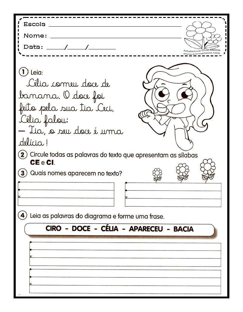 Textos Com Letra Cursiva Pagina 4 Jpg 803 1030 Atividades Com