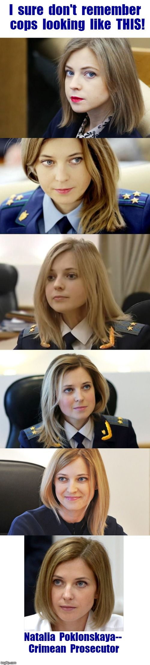 Natalia Poklonskaya, Deputy of State Duma of Russia ...