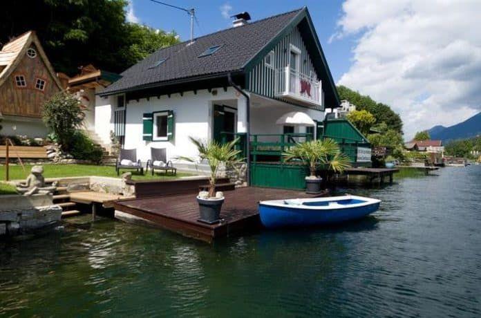 Smiley Seehauschen Direkt In Seeboden Am Millstatter See Ferienhaus Am See Osterreich Traum Ferienwohnung Ferienhaus Am See