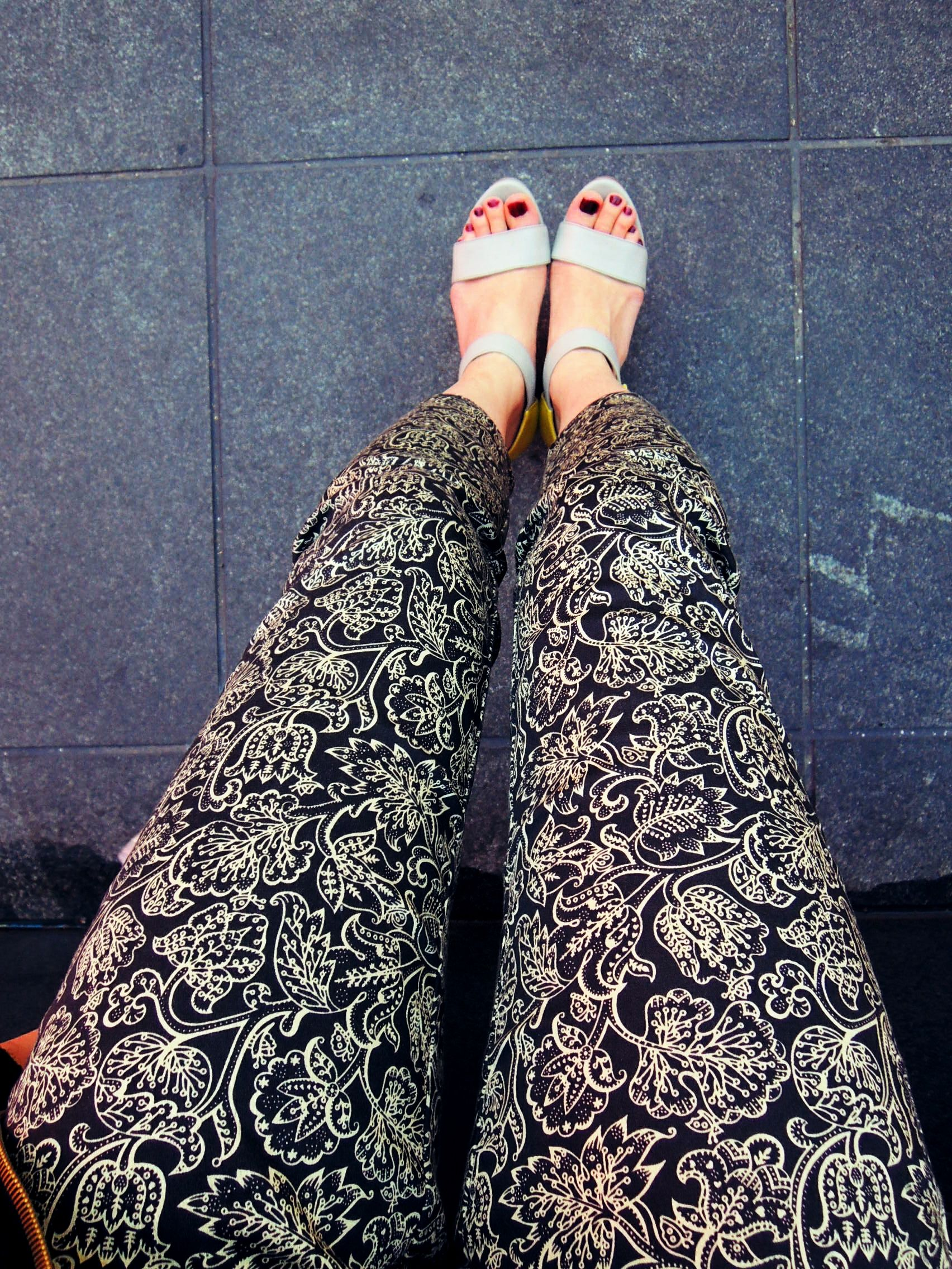 #WedgeSandals #FloralPants #Spring #uniqlo #NYC