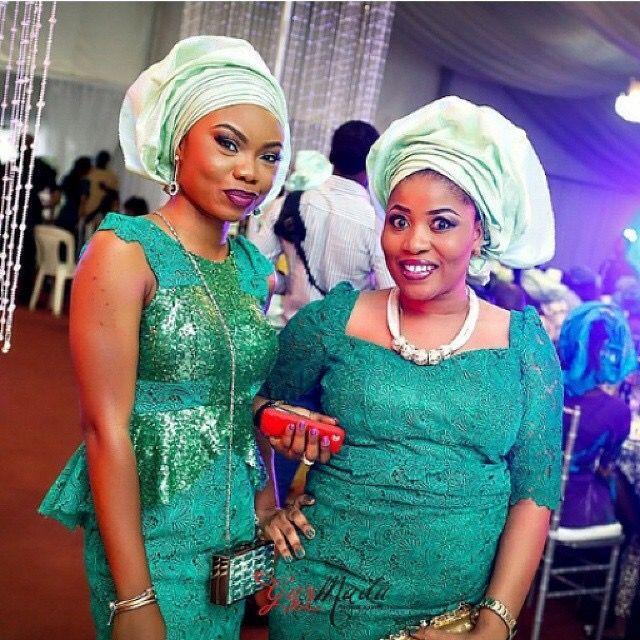 Nigerian Wedding Green And Mint Ore-iyawo Aso-ebi Color