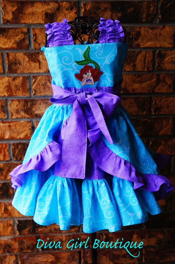 Girls Birthday Dress Little Mermaid Ariel by divagirlboutique ...