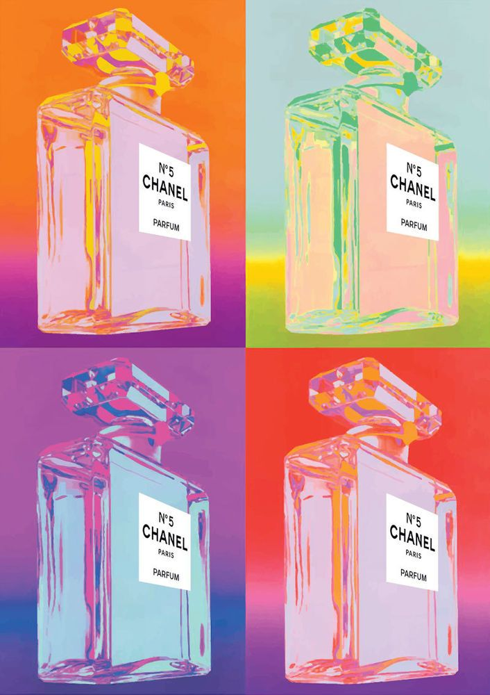 302822657d8 Chanel No 5 No.5 No5 Perfume Bottle Warhol Pop Art Print Poster The ...